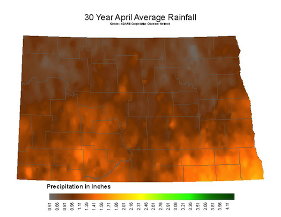 April Average Rainfall