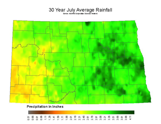July Average Rainfall