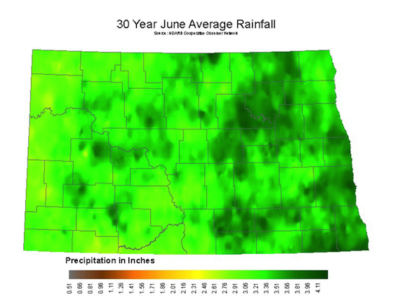 June Average Rainfall