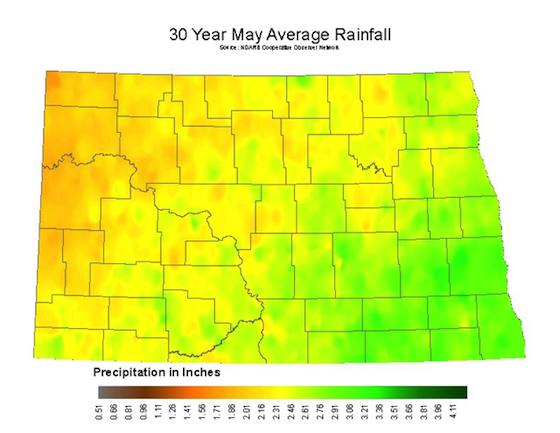 May Average Rainfall